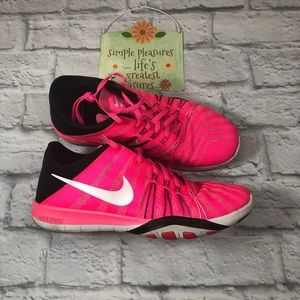 Nike Free TR 6 sneakers.  Size 8.5. Pink!